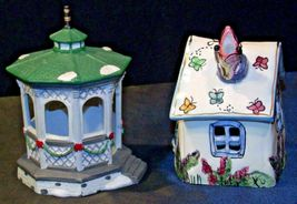 House Village (Candle Holders) AA20-2061 Vintage Pair image 10