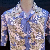 Royal Creations Hawaiian Aloha Shirt Size L Reverse Print Floral Made in... - $32.99