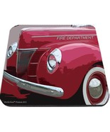 old fire department chiefs car mouse pad usa made - $18.99