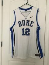 Nike Dri-Fit Duke Blue Devils #12 Men's NCAA Sleeveless Jersey Sz XXL Ba... - $70.29