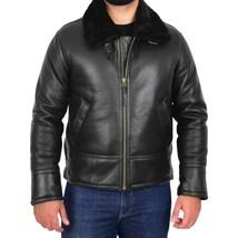 Mens Top Gun Style Sheepskin Jacket Oscar Black - $418.00