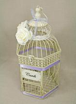 Wedding Birdcage Card Holder Vintage Ivory & Lavender Light Purple, Pearl, - €66,32 EUR+