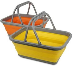Tiawudi 2 Pack Collapsible Sink with 2.25 Gal / 8.5L Each Wash Basin for... - $40.00