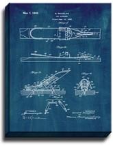 Ski Binding Patent Print Midnight Blue on Canvas - $39.95+