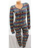 Victoria's Secret PINK Cozy Sleep One-Piece Long Jane Pajama Black Rainb... - $75.74+