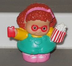 Fisher Price Current Little People Girl with Popcorn and Movie ticket FPLP - $3.00