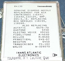 649-D7 PHONOGRAPH RECORD NEEDLE for RCA RMP-204 116931 116932 118199 118200 image 2