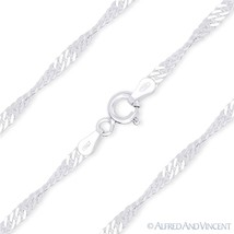 2.7mm Singapore Link Solid Italy 925 Sterling Silver Rope Italian Chain Necklace - $21.23 - $25.09