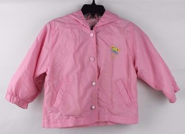 Vintage toddler Kids girls Okie Dokie hoodie pink jacket brooch size 24 ... - $11.10
