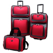 New Yorker 3pc Expandable Wheeled Suitcases Matching Tote Bag Travel Lug... - $79.99