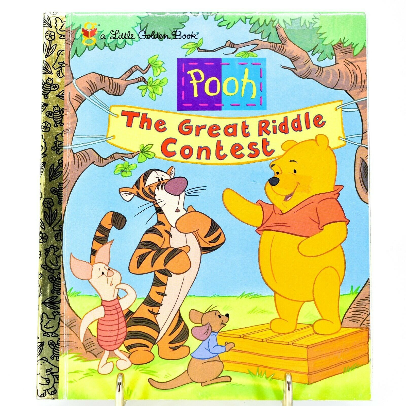 "A Little Golden Book Pooh The Great Riddle Contest ""A"" First Edition 2000"