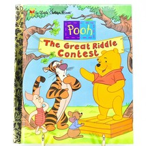 "A Little Golden Book Pooh The Great Riddle Contest ""A"" First Edition 2000 image 1"