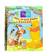"""A Little Golden Book Pooh The Great Riddle Contest """"A"""" First Edition 2000 - $2.96"""