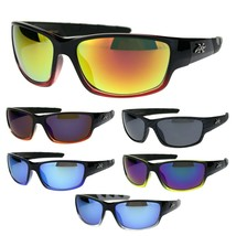 Mens Xloop Classic 2-tone Rectangle Warparound Sport Plastic Sunglasses - $9.95