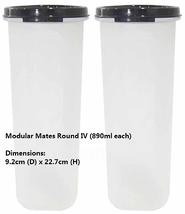 Tupperware Modular Mates Round IV (Set of 2) Black  - €29,99 EUR
