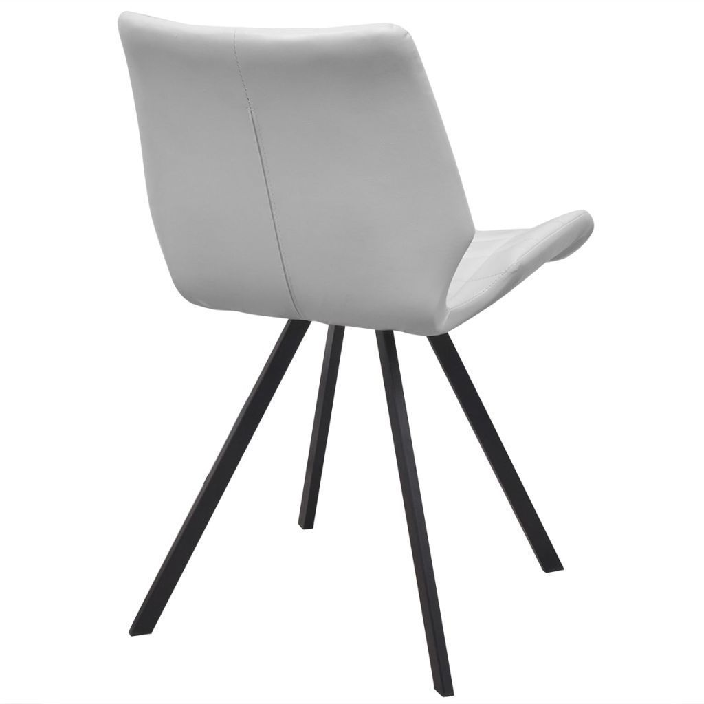 vidaXL Set of 4 Dining Office Living Room Kitchen Chair Artificial Leather White image 5
