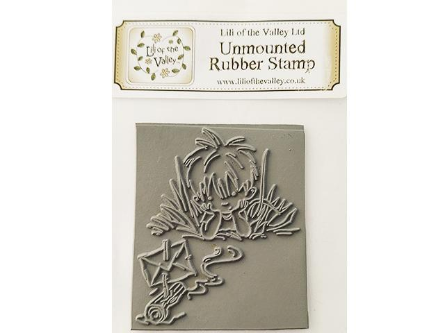 Lili of the Valley Unmounted Rubber Stamp Boy Sailing Boat