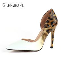 Brand Heels White Leopard Stiletto Shoes Woman Women Wom Party Pumps Shoes High pwxqBpr