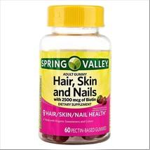 Spring Valley Hair Skin and Nails Adult Gummies 60 Gummies - $15.60
