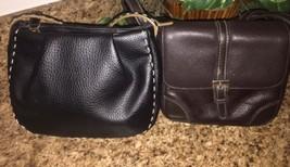 NWOT Small Leather Organizer Purse  Brown St John Bay Merona Black Purse... - $12.19
