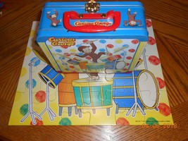 Rare Puzzle CURIOUS GEORGE drummer boy LIMITED EDITION LUNCH BOX TIN col... - $8.42