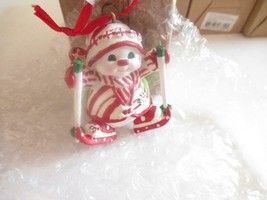 CHRISTMAS ORNAMENTS WHOLESALE- 17327- SNOWMAN W/SKIES - NEW- W23 - $3.42
