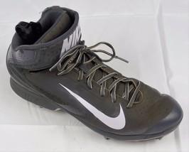 half off 38e7a b8a13 Nike Air Huarache Men  39 s Mid Pro Gray Baseball Metal Cleats 599235 015