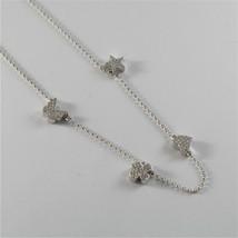 925 Silberne Halskette Jack&co mit Klee Herz Stern und Schmetterling 45 CM image 2