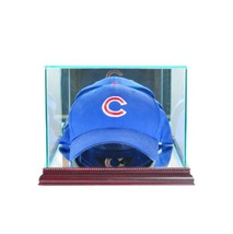 Perfect Cases MLB Cap/Hat Glass Display Case, Cherry image 2