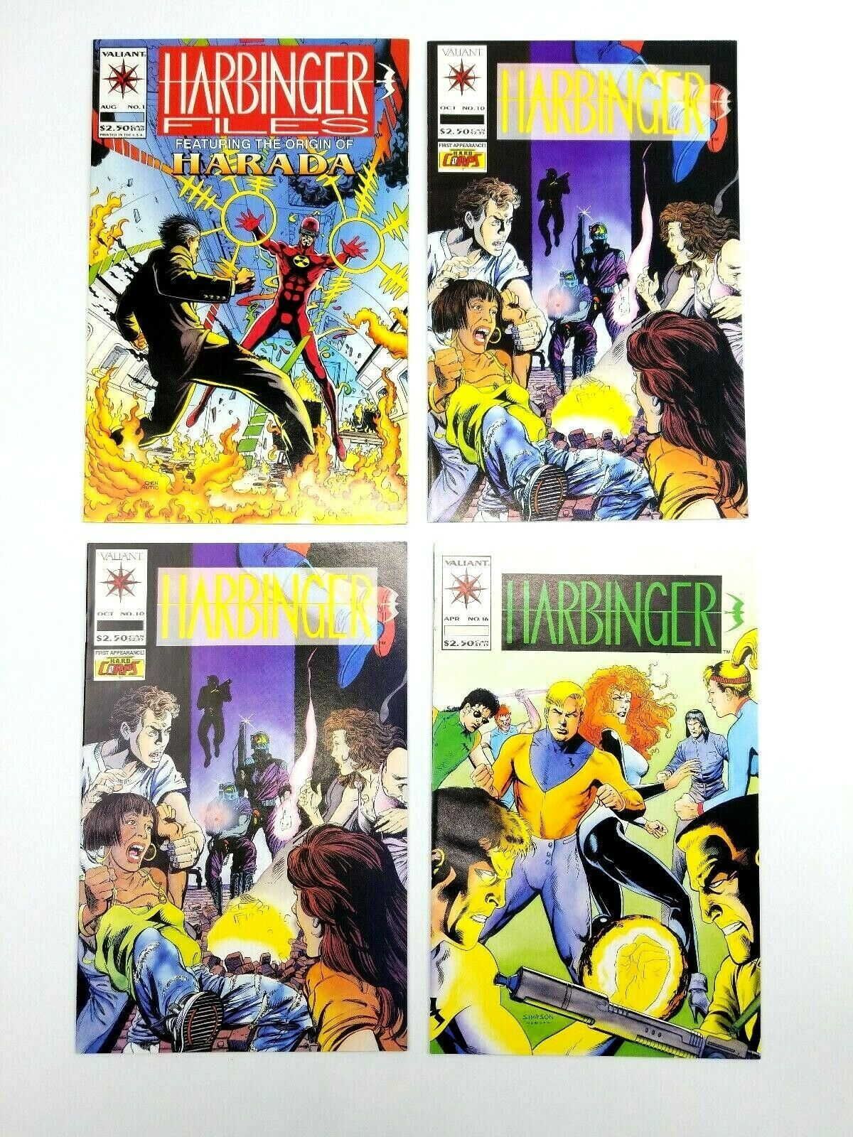 Harbinger 10 16 17 18 20 25 Harbinger Files #1 Valiant Comic Book Lot image 2