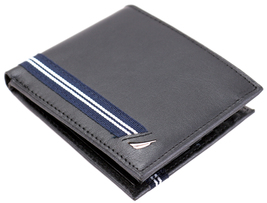 Nautica Men's Genuine Leather Credit Card ID Double Billfold Passcase Wallet image 4