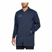 Under Armour Men Curry Life Long Range Blue Bomber Jacket 1304468 410 Si... - $39.95