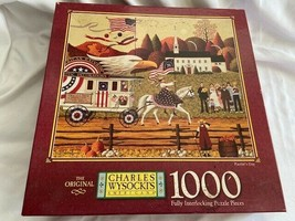 Charles Wysocki 1000 Pieces Jigsaw Puzzle Patriot's Day-American Flag Ea... - $27.23
