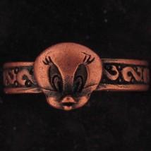 RING Tweety Bird WARNER BROS LOONEY TUNES 3D HEAD GIFT Copper WB STORE 5777 - $15.83