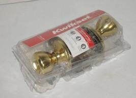 Kwikset Polished Brass Tylo Entry Knob 400T 3 CP K6 V1 - $13.85