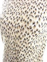 Ann Taylor Wool Sweater Vest Medium Animal Print Brown Beige Angora Blend image 4