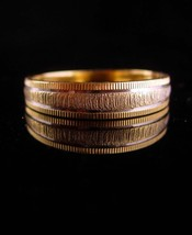 French wedding band 14KT GOLD wedding ring Vintage yellow white GOLD wom... - $225.00
