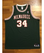 Authentic Reebok Milwaukee Bucks HWC Ray Allen Road Away Green Jersey 56 - $309.99