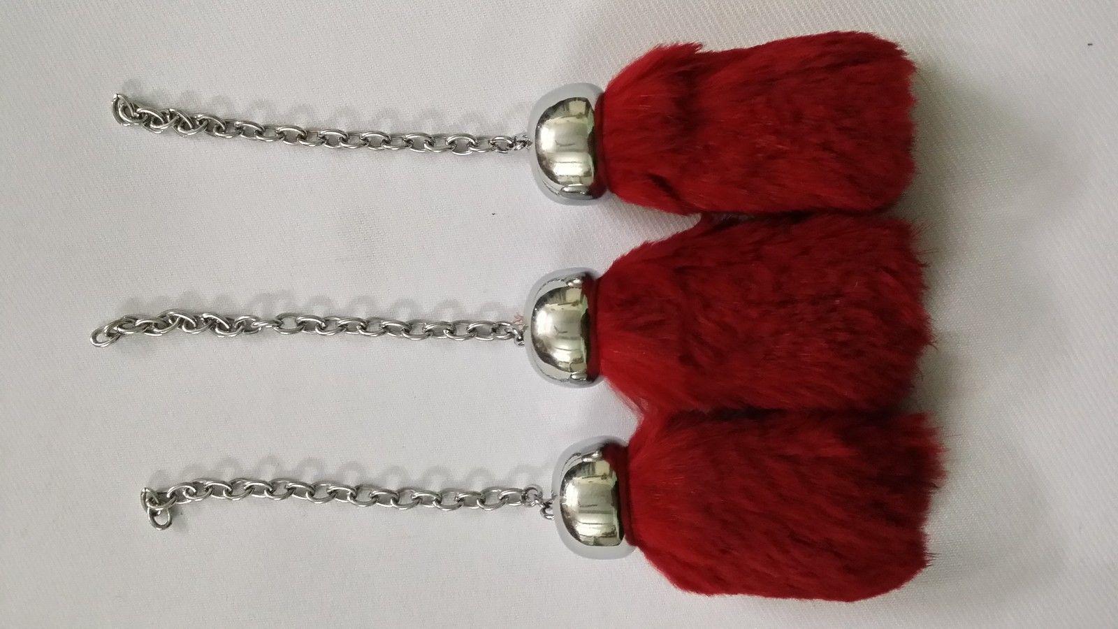 Scottish Full Dress Sporran Replacement Tassels Black Fur//Kilt Sporran Tassels