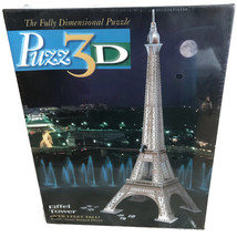 NEW Puzz 3D Eiffel Tower Puzzle Milton Bradley Extra Challenging 703 Pie... - $39.99