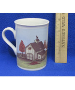 Coffee Mug Cup Design by Mindy Cain Autumn Fall Barn Farm Shed Weathervane - $9.89
