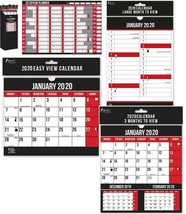 2020 Hanging Wall Calendar Large Month to View 3 Three Months to View A1... - $4.23+