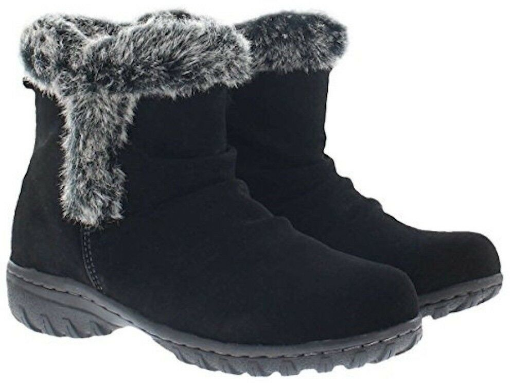 New in Box Khombu Women's Brown or Black Suede Lisa All Weather Winter Boots NIB