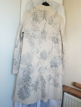 Antik batik cream wool coat with silver hand paint size M - $146.22