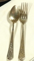 Set of 2 Antique 1909 Gorham Whiting Madam Jumel Sterling Silver Spoon &... - $74.25