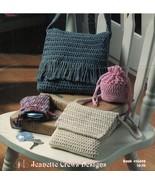Childs Chick Crochet Shoulder Flap Drawstring Bag  Makeup Pouch Backpack... - $12.99