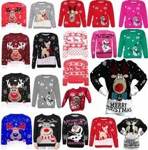 Kids Unisex Rudolph Reindeer Printed Soft Stretchy Christmas Xmas Midi J... - $9.07