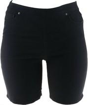 Women with Control My Wonder Denim Pull-On Shorts Black Indigo 10 NEW A2... - $13.83