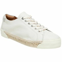 FRANCO SARTO LESSIA  GREY PUTTY OFF-WHITE LEATHER LACE UP SNEAKERS 8 M  NEW - $33.75