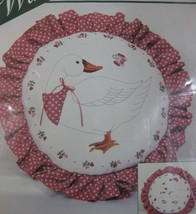 "Sculptured Goose 00314 Elsa Williams Crewel Kit Vintage NIP 13"" Round - $14.97"